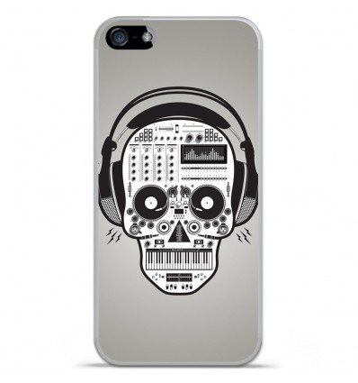 Coque en silicone Apple IPhone 5 / 5S - Skull Music