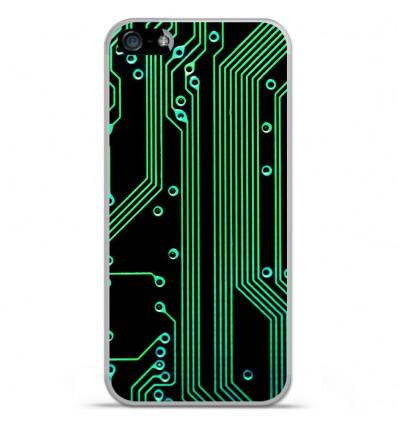 Coque en silicone Apple IPhone 5 / 5S - Texture circuit geek