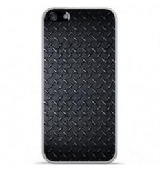Coque en silicone Apple IPhone 5 / 5S - Texture metal