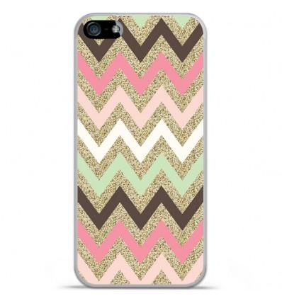 Coque en silicone Apple IPhone 5 / 5S - Texture rose