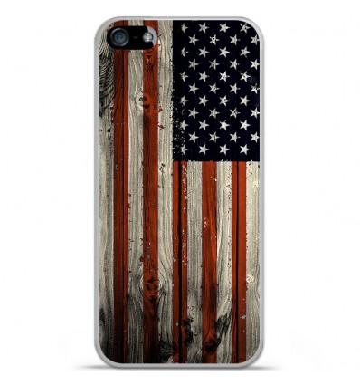 Coque en silicone Apple IPhone 5 / 5S - USA Hood