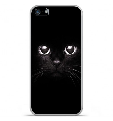Coque en silicone Apple IPhone 5 / 5S - Yeux de chat