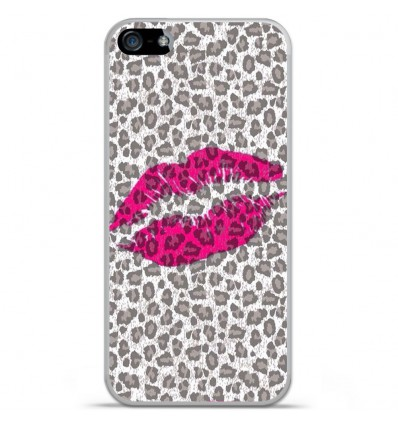 Coque en silicone Apple iPhone 5C - Baiser léopard