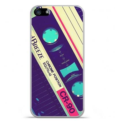 Coque en silicone Apple iPhone 5C - Cassette Vintage