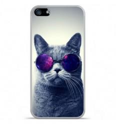 Coque en silicone Apple iPhone 5C - Chat à lunette