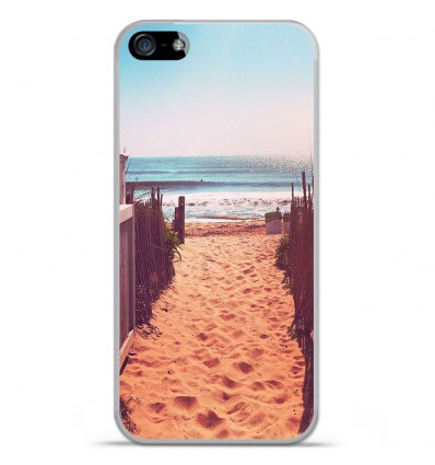 Coque en silicone Apple iPhone 5C - Chemin de plage
