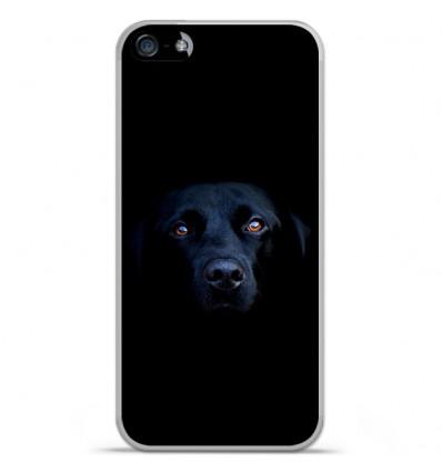 Coque en silicone Apple iPhone 5C - Chien noir