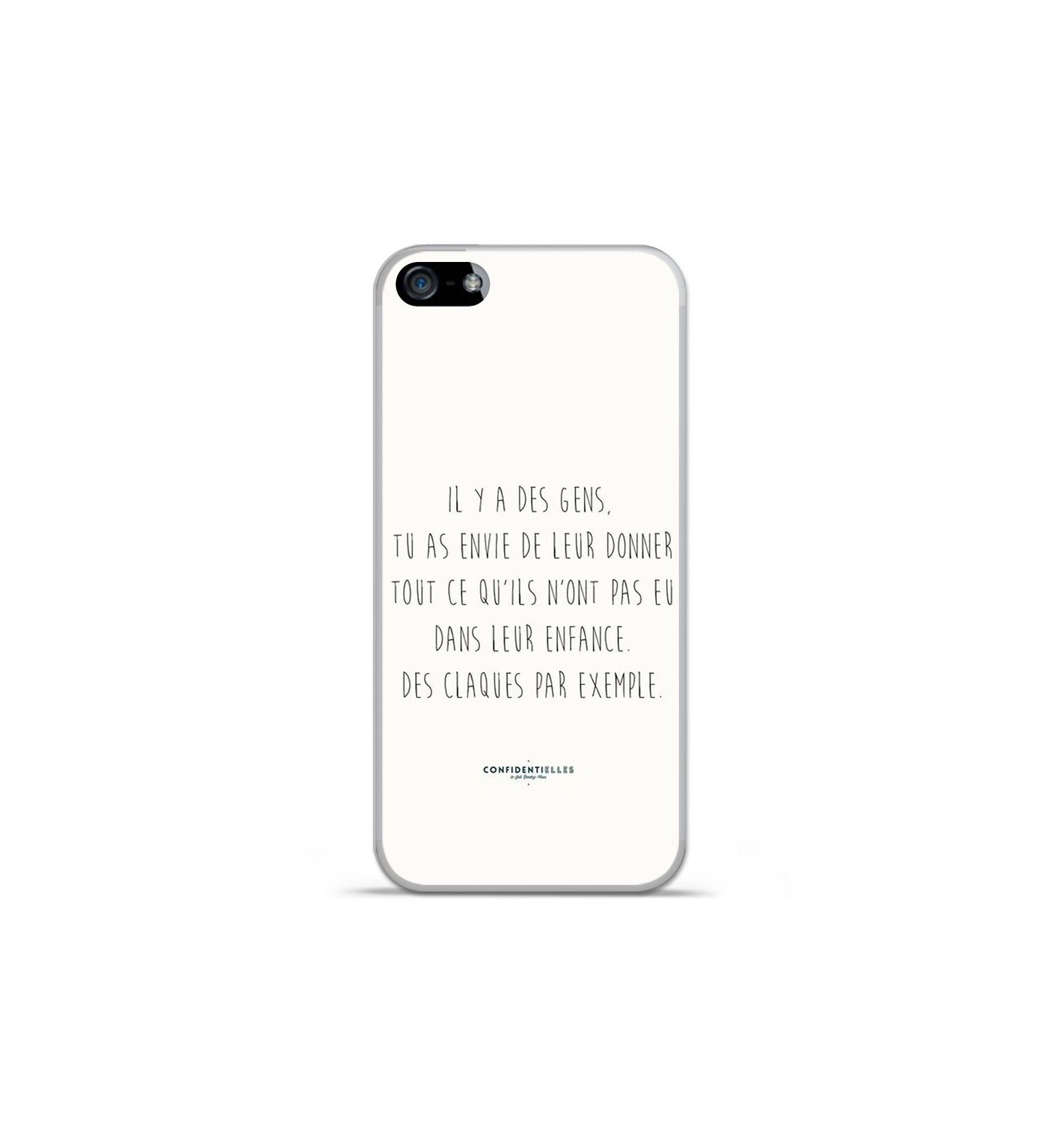 coque en silicone apple iphone 5c citation 01