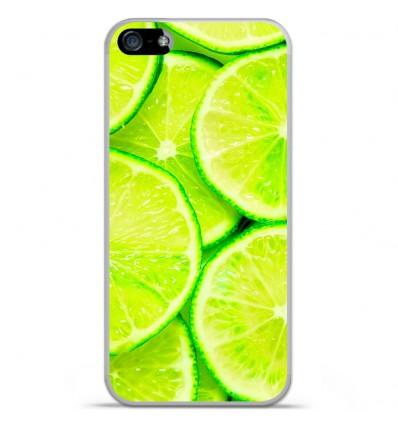 Coque en silicone Apple iPhone 5C - Citron