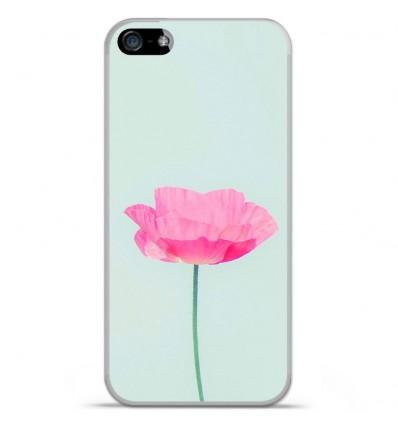 Coque en silicone Apple iPhone 5C - Fleur Rose