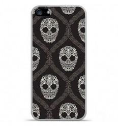 Coque en silicone Apple iPhone 5C - Floral skull