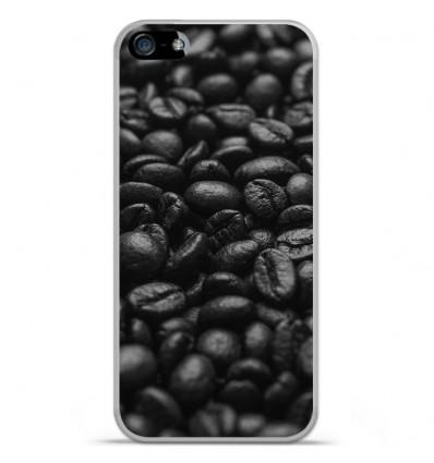 Coque en silicone Apple iPhone 5C - Grains de café