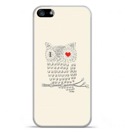Coque en silicone Apple iPhone 5C - I Love Hiboux