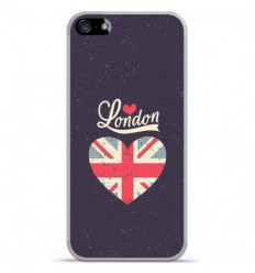 Coque en silicone Apple iPhone 5C - I love London