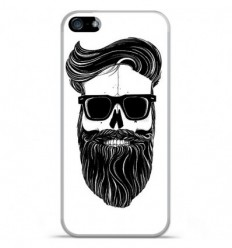 Coque en silicone Apple iPhone 5C - Skull Hipster