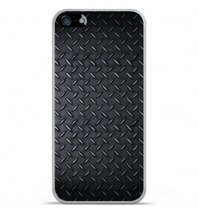 Coque en silicone Apple iPhone 5C - Texture metal