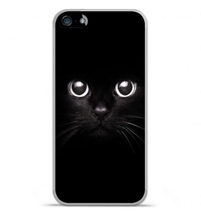 Coque en silicone Apple iPhone 5C - Yeux de chat
