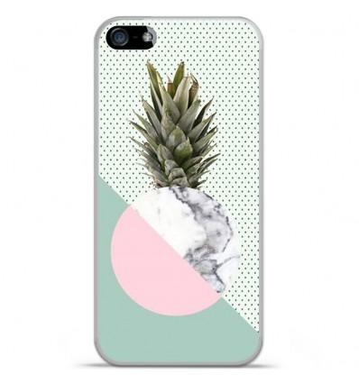 Coque en silicone Apple iPhone SE - Ananas marbre