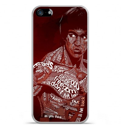 Coque en silicone Apple iPhone SE - Bruce lee