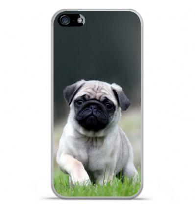 Coque en silicone Apple iPhone SE - Bulldog français