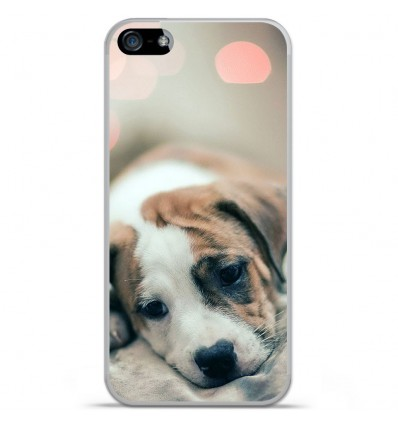 Coque en silicone Apple iPhone SE - Chiot rêveur