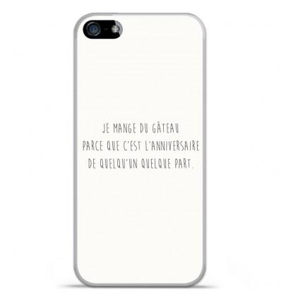 Coque en silicone Apple iPhone SE - Citation 12