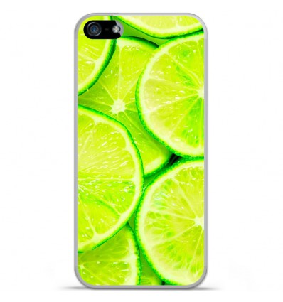 Coque en silicone Apple iPhone SE - Citron