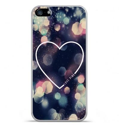 Coque en silicone Apple iPhone SE - Coeur Love