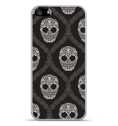 Coque en silicone Apple iPhone SE - Floral skull