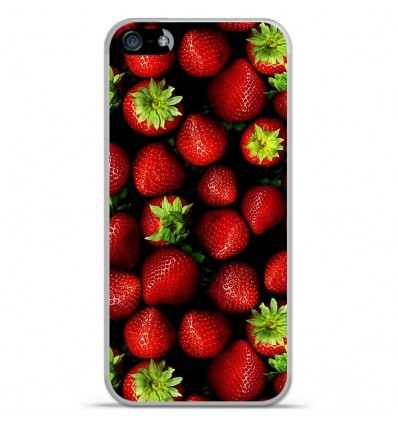 Coque en silicone Apple iPhone SE - Fraises