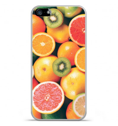 Coque en silicone Apple iPhone SE - Fruits