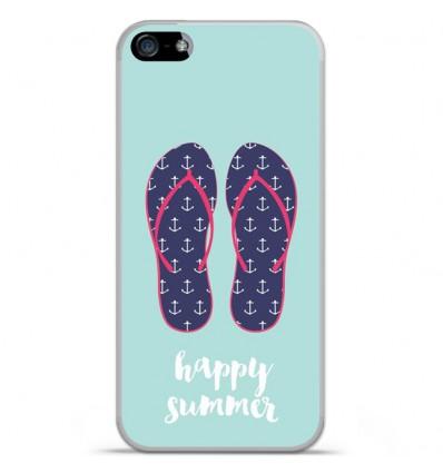 Coque en silicone Apple iPhone SE - Happy summer