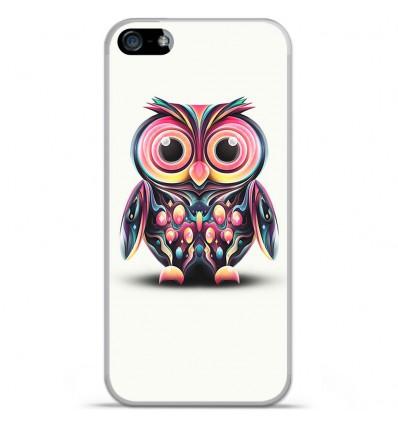 Coque en silicone Apple iPhone SE - Hiboux coloré