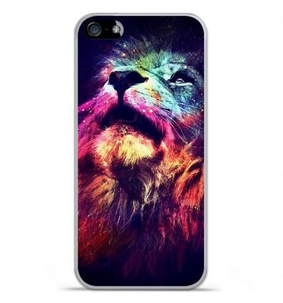 Coque en silicone Apple iPhone SE - Lion swag