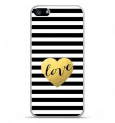 Coque en silicone Apple iPhone SE - Love bariolé