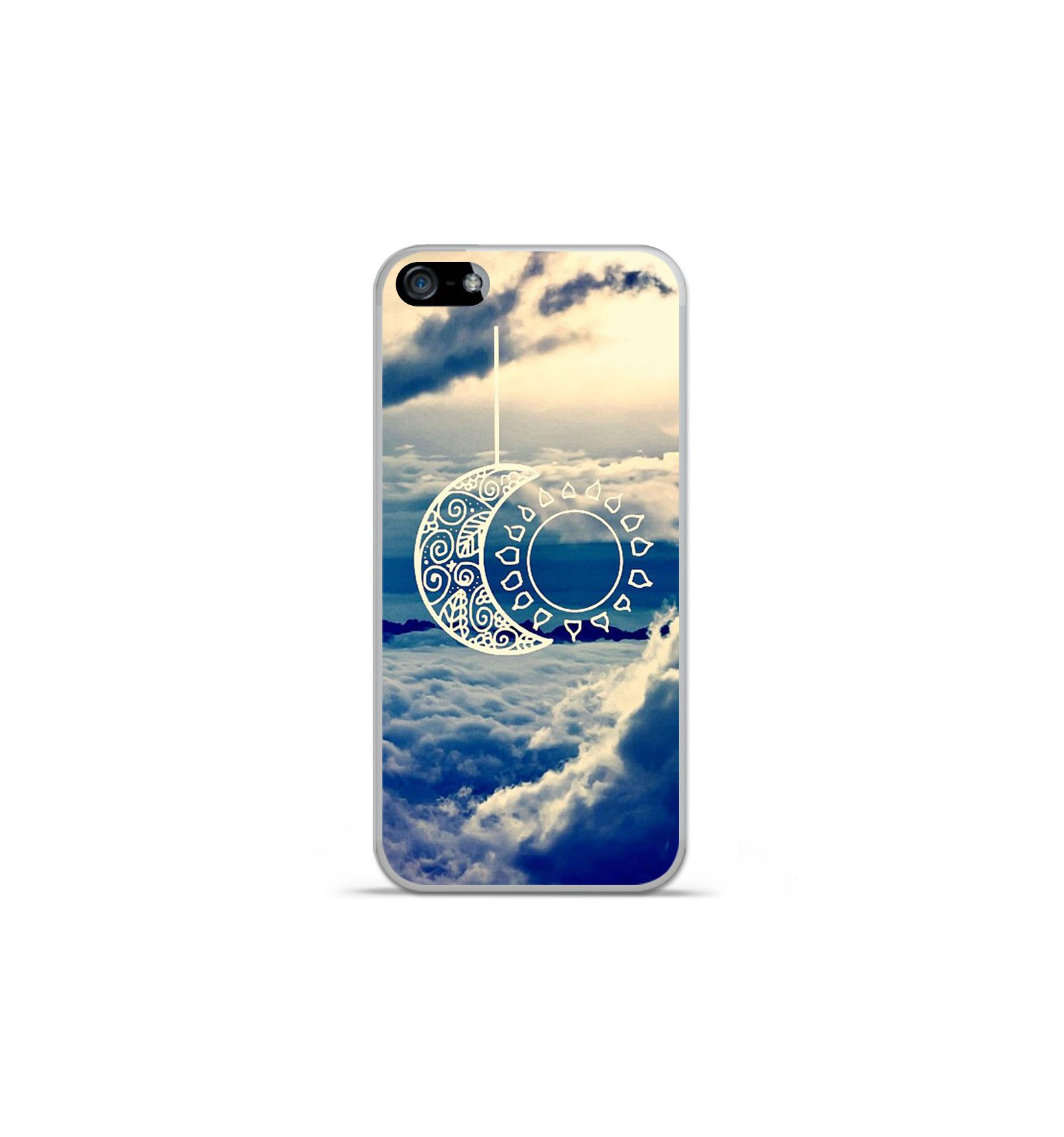 coque iphone xr silicone lune
