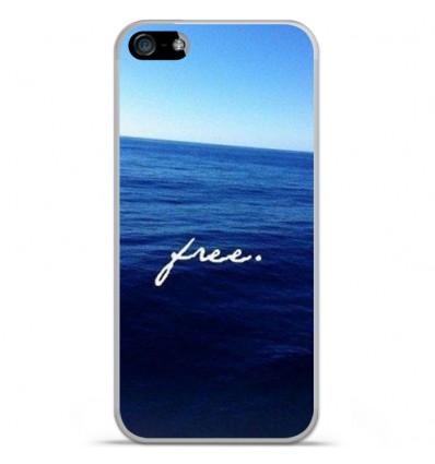 Coque en silicone Apple iPhone SE - Océan free