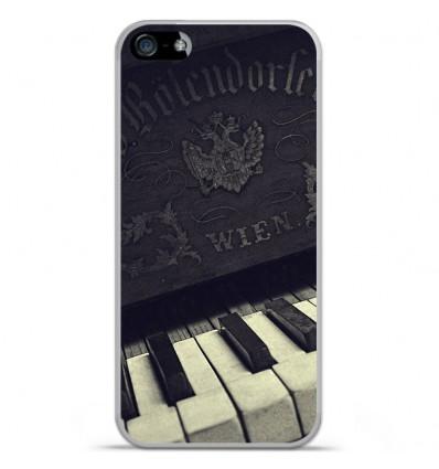 Coque en silicone Apple iPhone SE - Old piano
