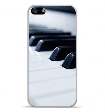 Coque en silicone Apple iPhone SE - Piano