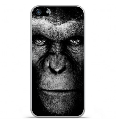 Coque en silicone Apple iPhone SE - Singe