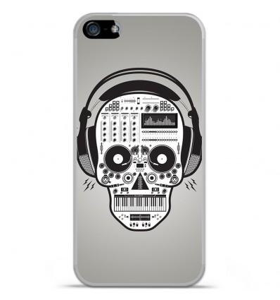 Coque en silicone Apple iPhone SE - Skull Music