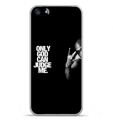 Coque en silicone Apple iPhone SE - Tupac
