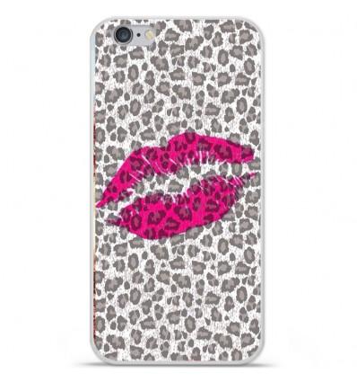 Coque en silicone Apple iPhone 6 / 6S - Baiser léopard