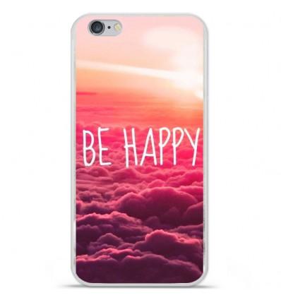Coque en silicone Apple iPhone 6 / 6S - Be Happy nuage