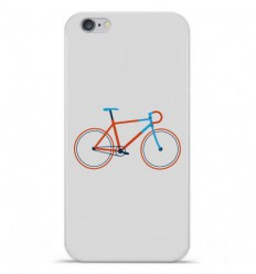 Coque en silicone Apple iPhone 6 / 6S - Bike color Hipster