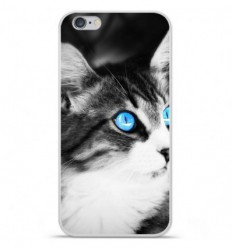 Coque en silicone Apple iPhone 6 / 6S - Chat yeux bleu