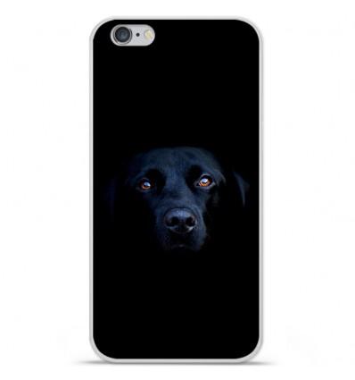 Coque en silicone Apple iPhone 6 / 6S - Chien noir