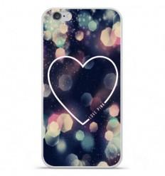 Coque en silicone Apple iPhone 6 / 6S - Coeur Love