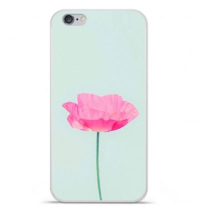 Coque en silicone Apple iPhone 6 / 6S - Fleur Rose