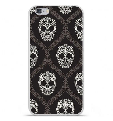 Coque en silicone Apple iPhone 6 / 6S - Floral skull